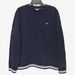 Lacoste Long-Sleeve Navy Blue Pullover Sweater